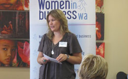 Perth business coach Shannon Bush speaking