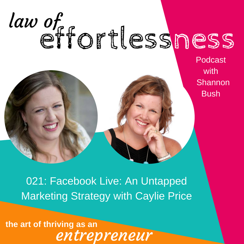 Podcast 021Facebook Live_ An Untapped Marketing Strategy | Caylie Price | Shannon Bush | Marketing Coach Perth