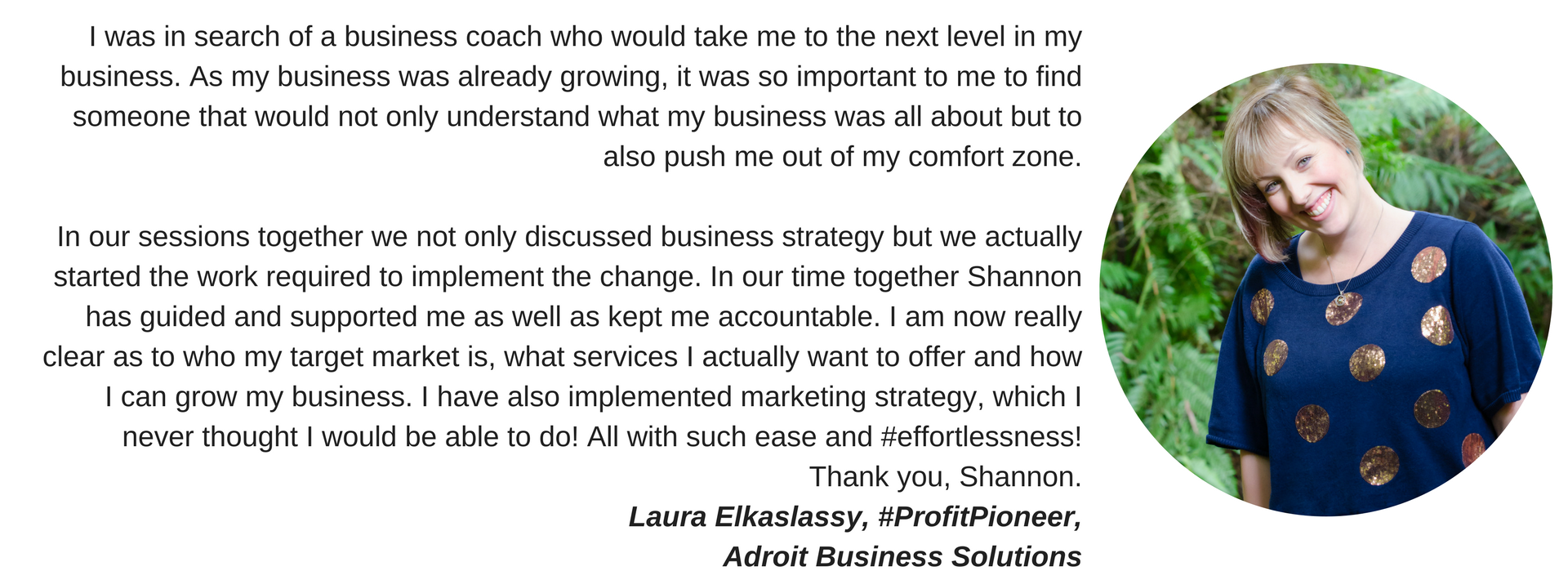 shannon bush business coach laura elkaslassy adroit business solutions | marketing coach Perth