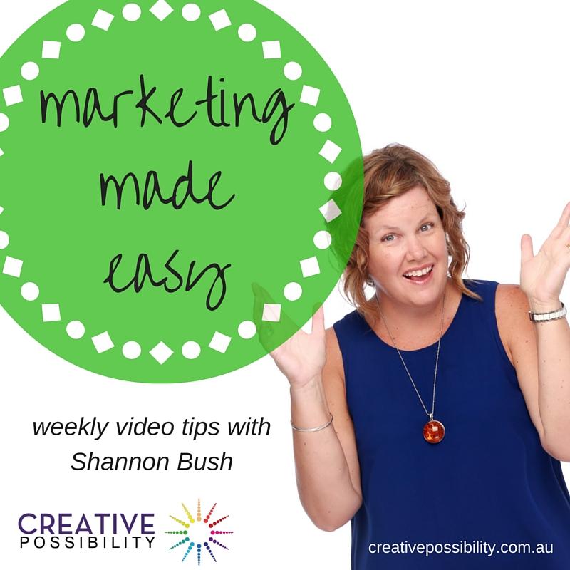 marketing made easy | business coach Perth | mrketing tips | marketing videos | shannon bush