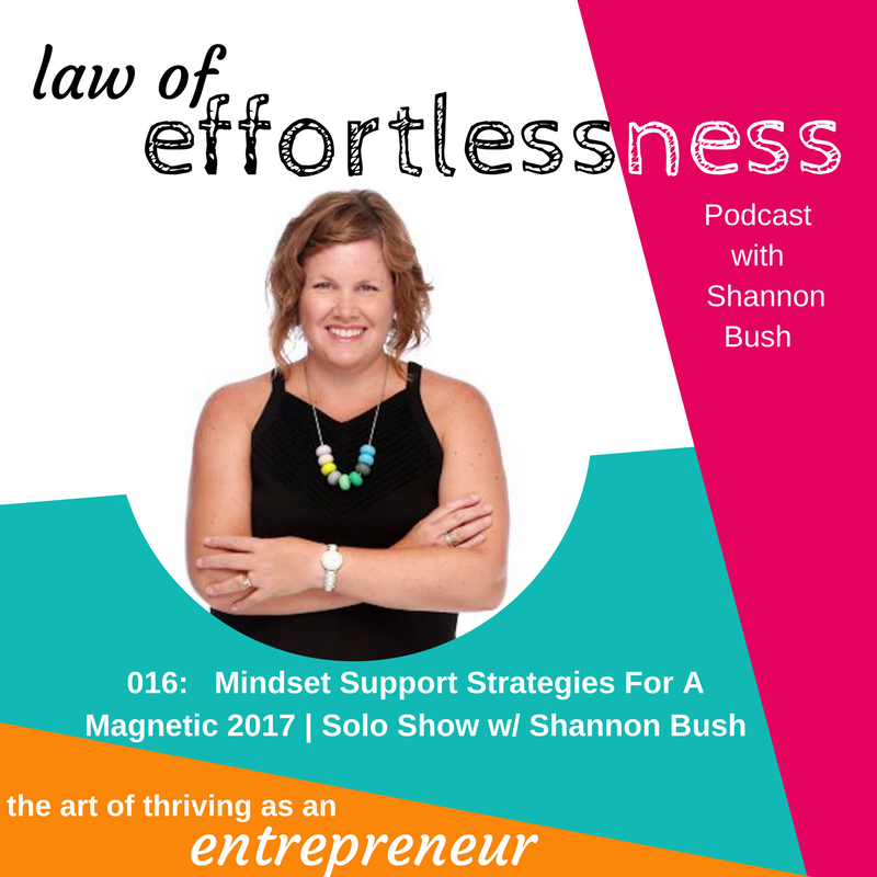 loe-podcast-016-mindset-support-strategies-for-a-magnetic-2017-shannon-bush | business coach Perth