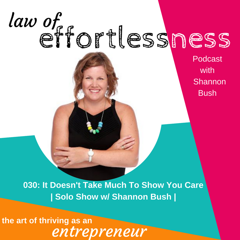 LOE Podcast 030 It Doesn't Take Much to Show You Care _ Shannon Bush
