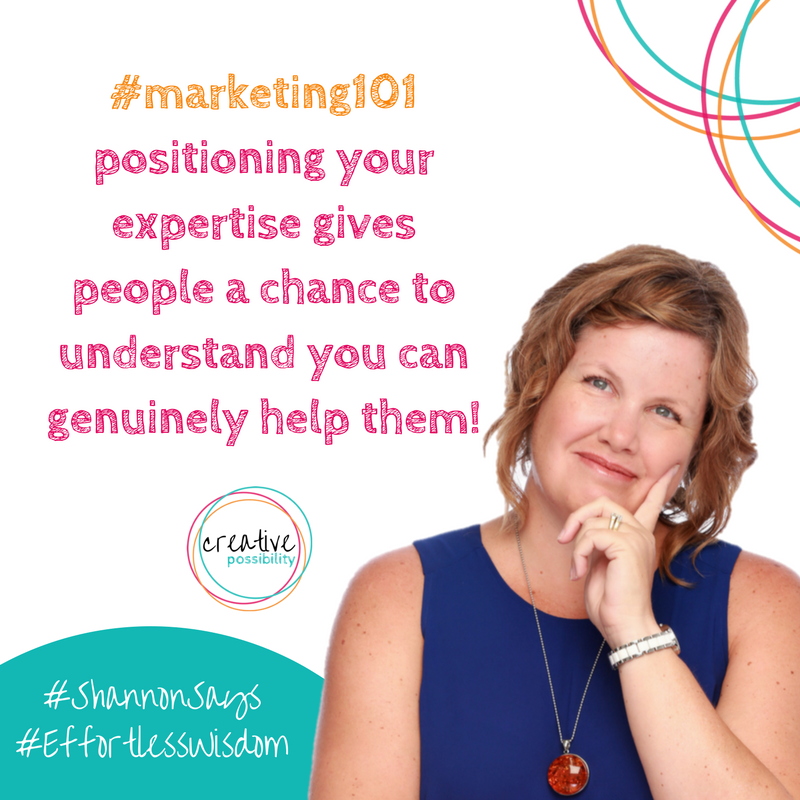 #marketing101 positioning creative possibility shannon bush