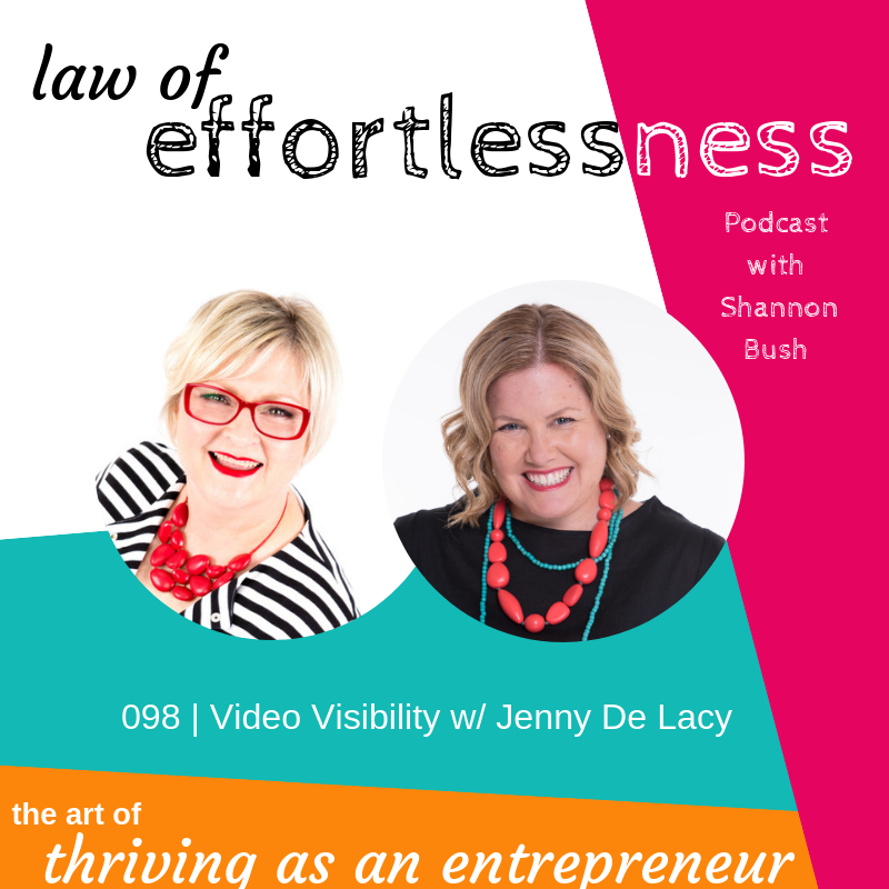 Business Marketing Coach Shannon Bush Visibility Coach Video Mentor Jenny De Lacy